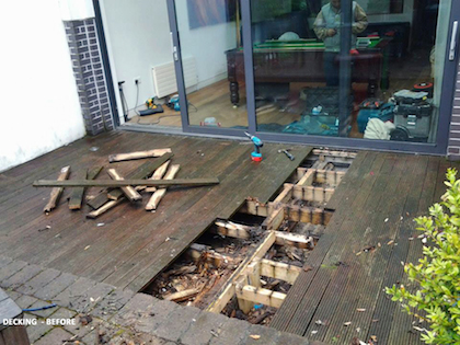 decking before.